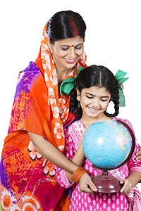 Rural Mother Daughter Student Education World Glob