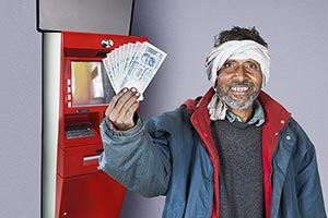 1 Person Only ; 40-50 Years ; Adult Man ; ATM ; Ba