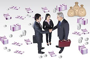 Stock Exchange Business Partners Handshake Dealing