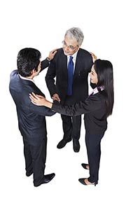 Business Colleague Partners Handshake Welcome
