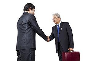Businessman Colleague Handshake Dealing Welcome