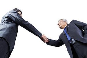 Indian Business Men Partner Handshake Dealing