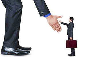 Business Partners Handshaking After Striking Deal