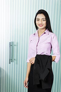 Indian Business Woman Office Manager Standing