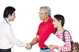Real estate Agent Handshake Dealing Customer