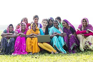 Group Rural Peoples Laptop E-Learning Awareness