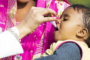 Rural Villager Mother Child Doctor Medicine Polio