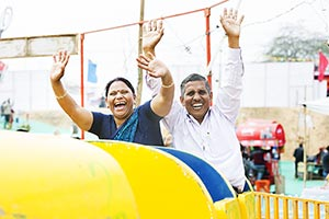 Senior Couple Fun Jhula Ride Mela