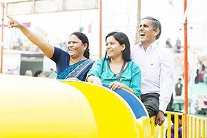 Parents Daughter Fun Jhula Ride Mela