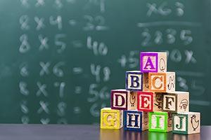 Abundance ; Alphabet ; Arranging ; Blackboard ; Bl
