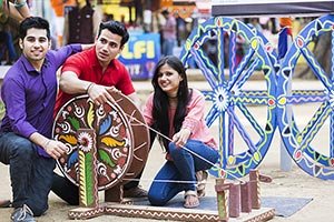 Teenager Friends Enjoy Market Charka Surajkund