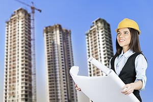 Woman Engineer construction Site Real Estate Proje