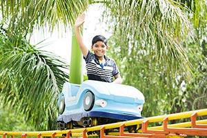 1 Person Only ; Amusement Park ; Boys ; Car ; Care