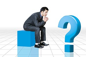 Businessman Illustration Question Mark Thinking Co