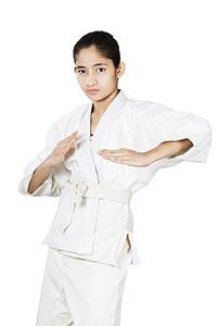 fighting karate girl Judo Martial Arts