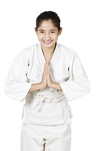 karate Girl Judo Player Sport Traning