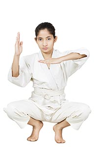 judo Indian Girl training karate Martial Arts