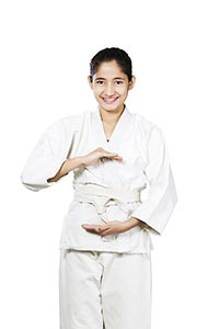 Judo Martial Art s Student Uniform Girl Smiling