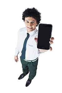 Boy New School Showing Student Teenager Smartphone