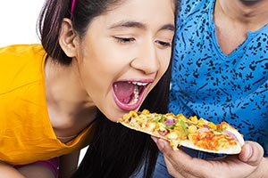 Eating Friends Greed Pizza Snatch Temptation Teena