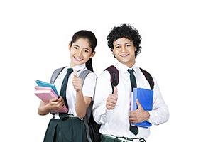 Teenage r School Student Friends Thumbsup Educatio