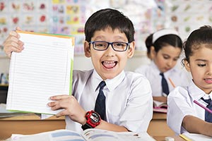 Kids Boy Book Showing Education Studying Cheerful