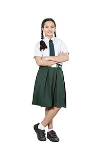 School Girl Student Arms Crossed Standing Wisdom