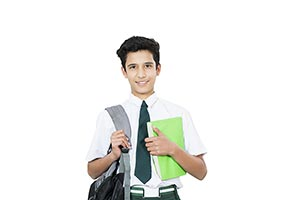 School Student Boy Holding Bag Book Education