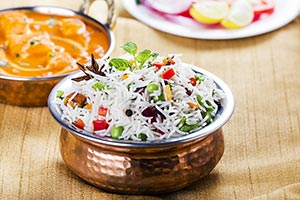 Lunch Ready-to-eat Restaurant Rice Serving Shahi P