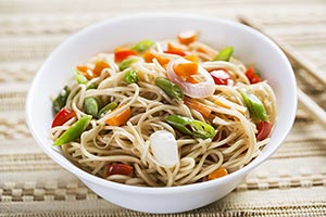 Chinese Dish Delicious Noodles restaurant Serving