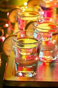 Night Club New Year Party Tequila shots