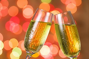New Year Party Champagne Toasting Glass Celebratin