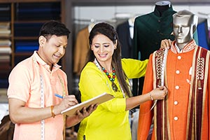 Boutique Tailor Employees Designer Checking Manneq