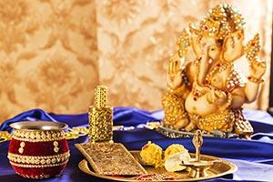 Hindu Raksha Bandhan Festival God Worship