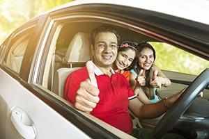Parents Daughter driving Car Vacation Holidays Thu