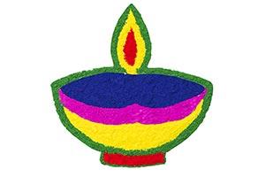 Colour Design Diwali Diya Rangoli Festival Decorat