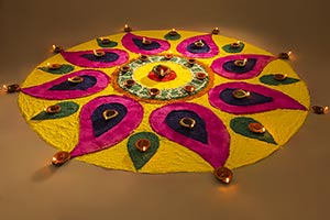 Decoration Diwali Festival Onam Rangoli Diya Relig