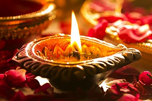 Burning Diwali Diya Festival Hinduism Illuminated
