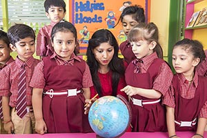 Teacher Kids Students Class Globe Search Education