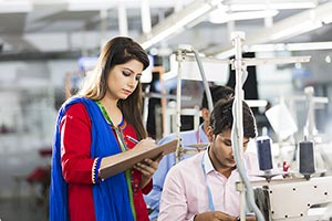 Indian Workers Tailor s Sewing Factory and Manager