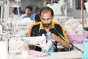 1 Indian Man Tailor Sewing factory Worker Working