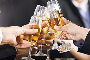 Business partners toasting with champagne Glass Ce