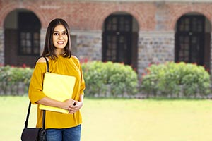 1 Person Only ; 20-25 Years ; Bag ; Book ; Campus